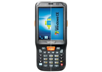 "Терминал сбора данных Urovo i6100s / Android 4.3 / 1D Laser / Mindeo / Bluetooth / Wi-Fi / GSM / 2G / 3G / 5.0MP (camera) / RAM 1 GB / ROM 4 GB / 4x-core 1,2 GHz / 3.2"" / 240 x 320 / 32 клавиши / 4500 mAh / 320 g / IP 54"